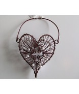 Heart Shaped Wire Basket for Hanging, w/Pearls,... - $6.95