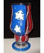 GLASS AMERICANA FOLK ART CANDLE VOTIVE July 4th - $13.31