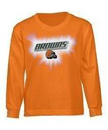 CLEVELAND BROWNS YOUTH LONG SLEEVE T-SHIRT LARGE - $14.99