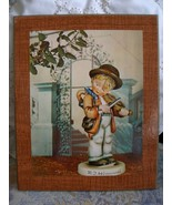 M I Hummel 1940 Boy and Violin Print Picture on... - $15.00