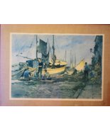 Old San Francisco Scenery August Carotto Boat Painting