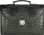 Buy Briefcases - MENS GENUINE ALLIGATOR LEATHER BRIEFCASE BLACK DCM39-S