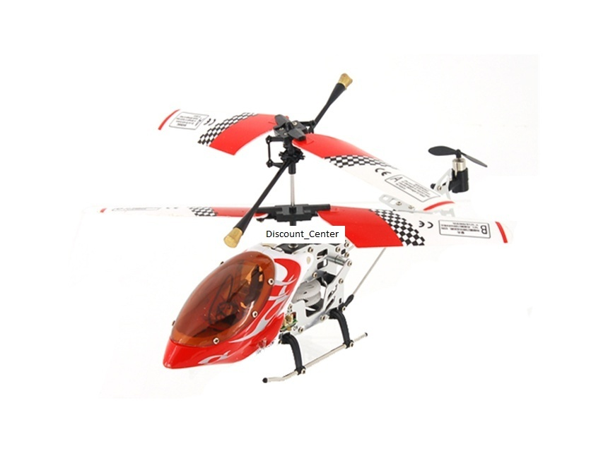 SH V-MAX 6020 3-Channel Mini Metal RC Helicopter (Red)