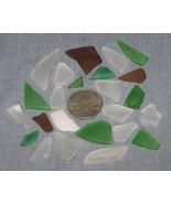 Tumbled Sea Beach Glass Lot D Clear Green Brown... - $6.00