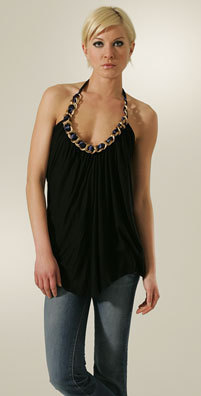 NWT T-Bags Chain Halter BLACK LARGE ASO Lauren Conrad *SOLD OUT* RETAIL $198