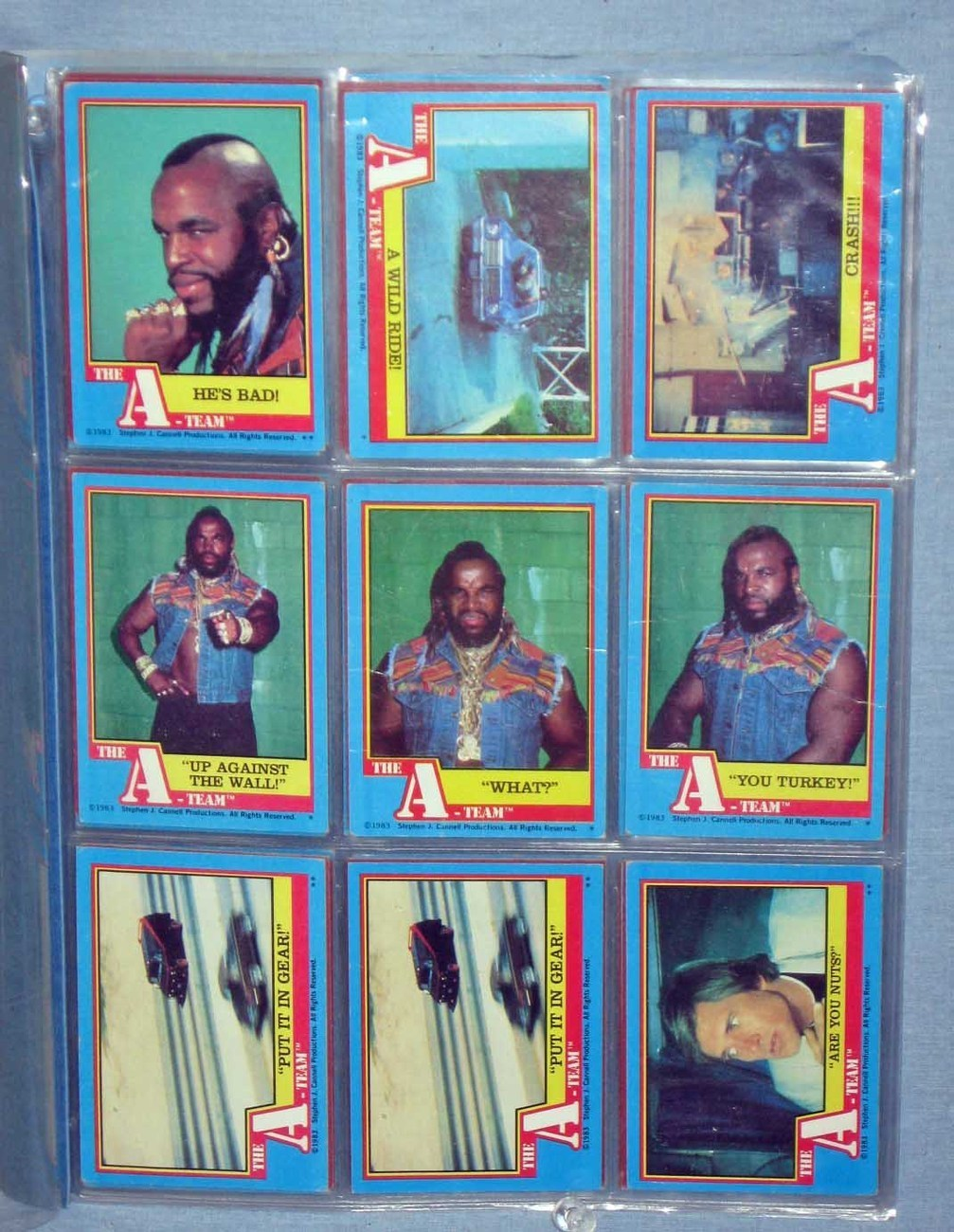 Collector Cards - Mr. T of The A Team - 44 cards