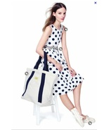 2012 NEW J CREW Big Shot Polka dot silk cotton ... - $99.99