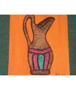Sculptured handmade picture of a Vase by E. Dai... - $48.50