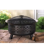 Iron Fire Pit with Screen Lid Cover Outdoor Yar... - $95.00
