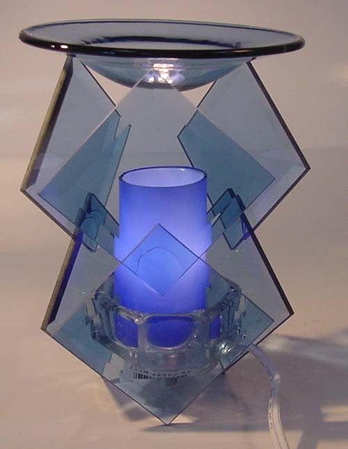 Image 0 of  Blue Electric Oil or Tart Warmer