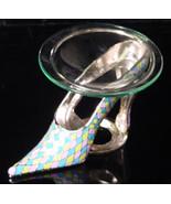 Yellow/Pink/Blue Pewter High Heel  Tea Light - $21.50