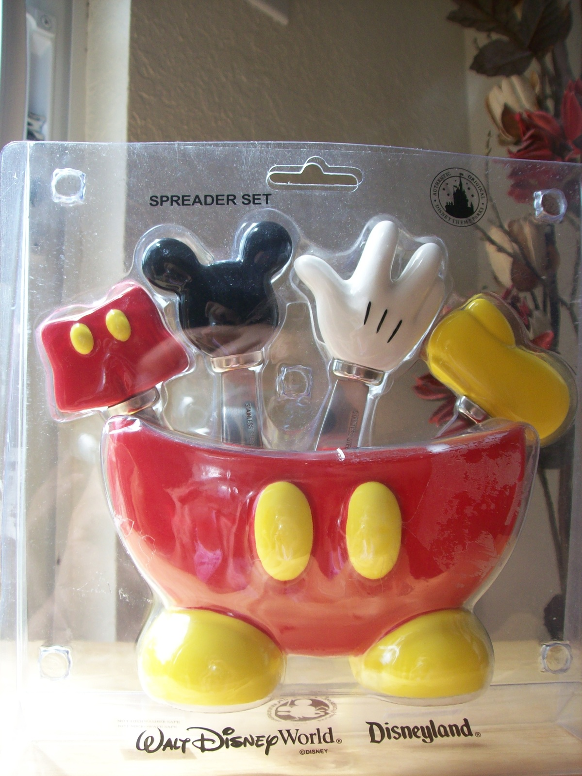 Disney Mickey Mouse Body Parts Spreader Set Dinnerware