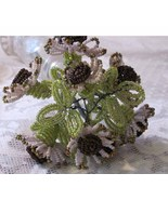 Handmade French Beaded Daisy Like Flowers Bouq... - $29.92