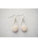 Ceramic Golf Ball  Sterling Silver Earrings Han... - $16.47