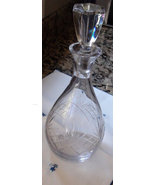 Welcome House Wine Decanter Heavy Blown Lead Gl... - $60.00