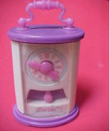 Purple Barbie Doll House Mini Wind Up Anniversa... - $6.99
