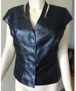 Thierry Mugler Couture Paris Runway Black Cut O... - $325.00