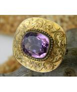 Antique_victorian_amethyst_brooch_pin_brass_goldtone_thumbtall