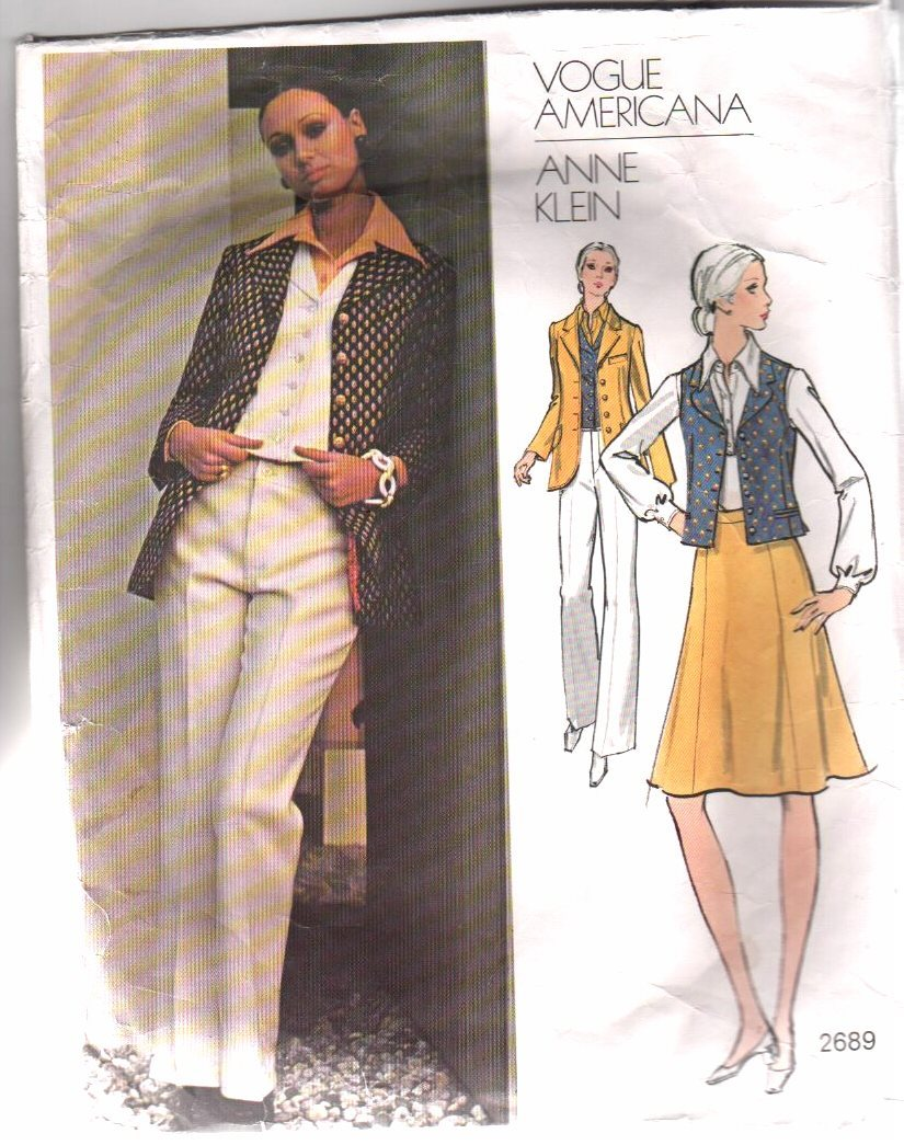 VOGUE Americana PATTERN, 2689 Anne Klein;  Ensemble, Sz 10
