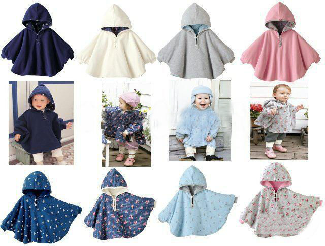 Reversible Poncho/Cape/Coat 0-12 months Navy