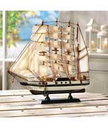 Wooden Passat Ship Statue Display - $27.00