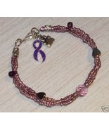 Handcrafted Purple Animal Abuse Anti-Cruelty Aw... - $24.99