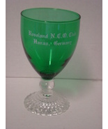 Anchor Hocking Bubble Boopie Green Stem Goblet - $8.00