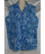 Gloria Vanderbilt Size Medium Blue Flowered Sle... - $9.99