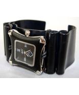 Black Silver Square Faced Wristwatch Unisex Alu... - $124.00