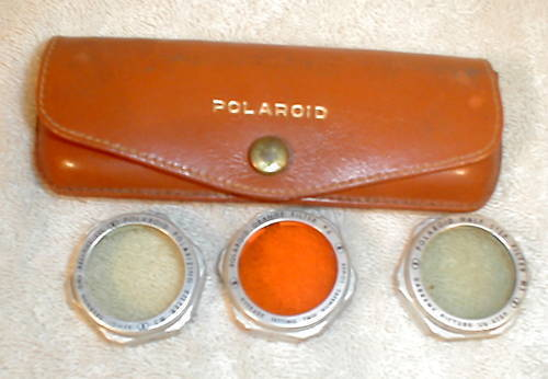 Vintage Polaroid Polarizing Orange and Half Step Lenses