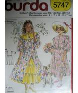 Burda 5747 Vintage 90s Pattern Girls Dress Pet... - $9.95