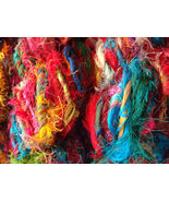 30 skeins Sari Silk Yarn Crochet Recycled Quali... - $84.73