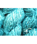 TEAL ART SILK YARN RECYCLED CROCHET KNITTING - ... - $22.22