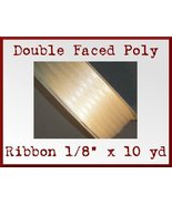 Ivory Double Faced Poly Ribbon 1/8 x 10 yd - $1.48