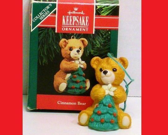 Cinnamon Bear Hallmark Keepsake ornament porcelain bear 1990
