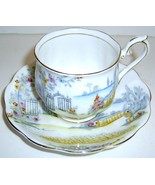 ROSEDALE Scenic ROYAL ALBERT China Cup & Saucer... - $20.00