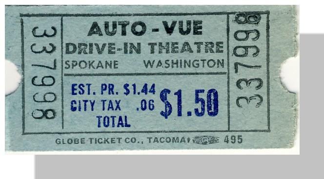 autovue drivein theatre ticket spokane washingtonwa