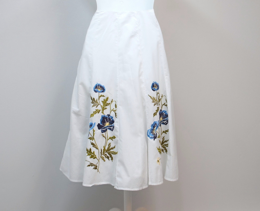 White_cotton_flare_summer_skirt