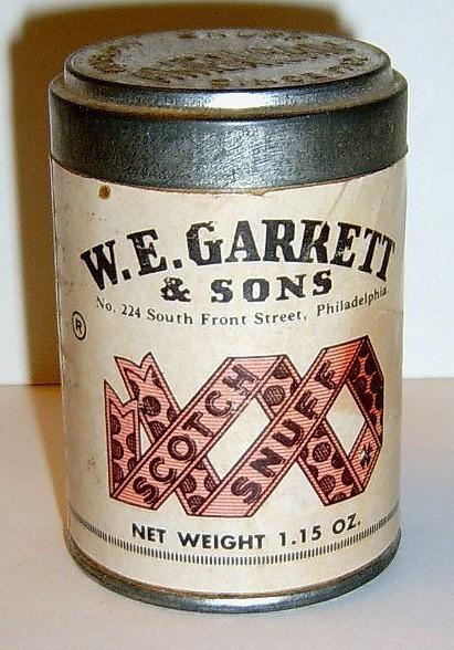 W E Garrett Amp Sons Scotch Snuff Vintage Can Snuff Boxes