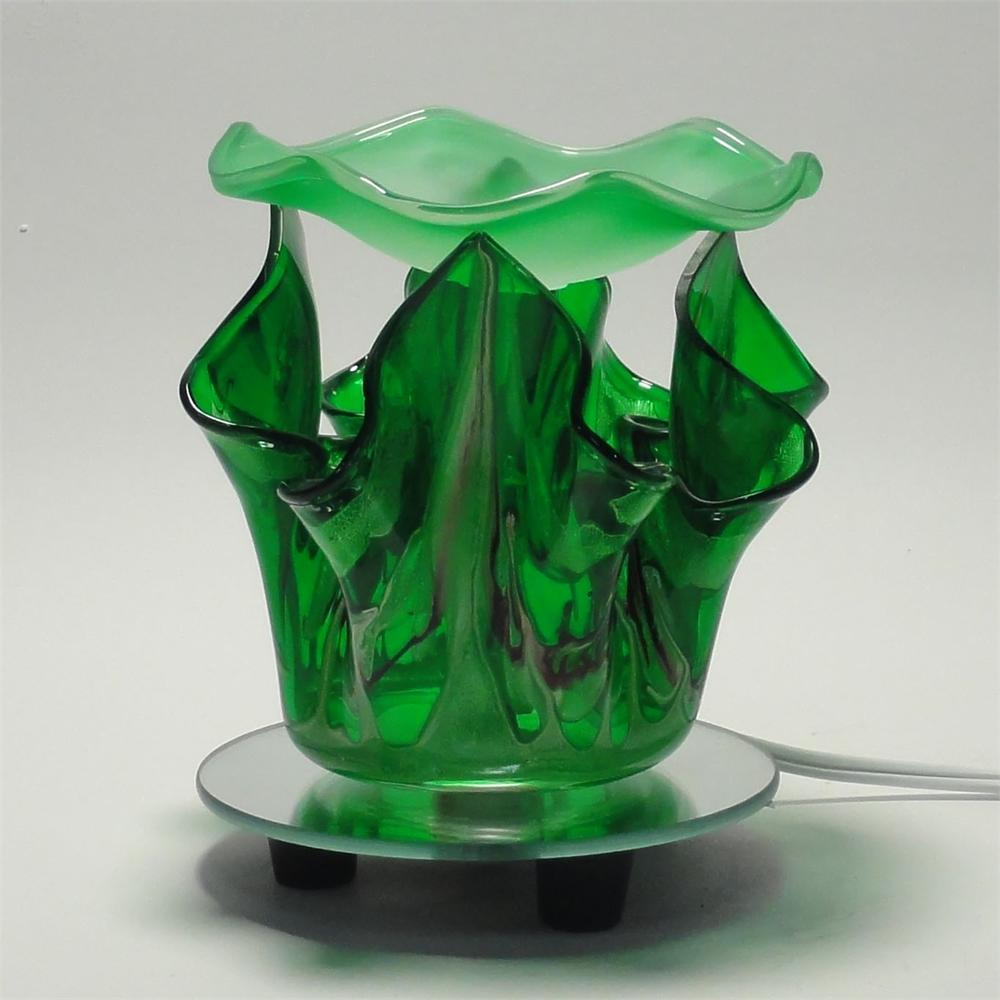 Green Electric Glass Oil Warmer