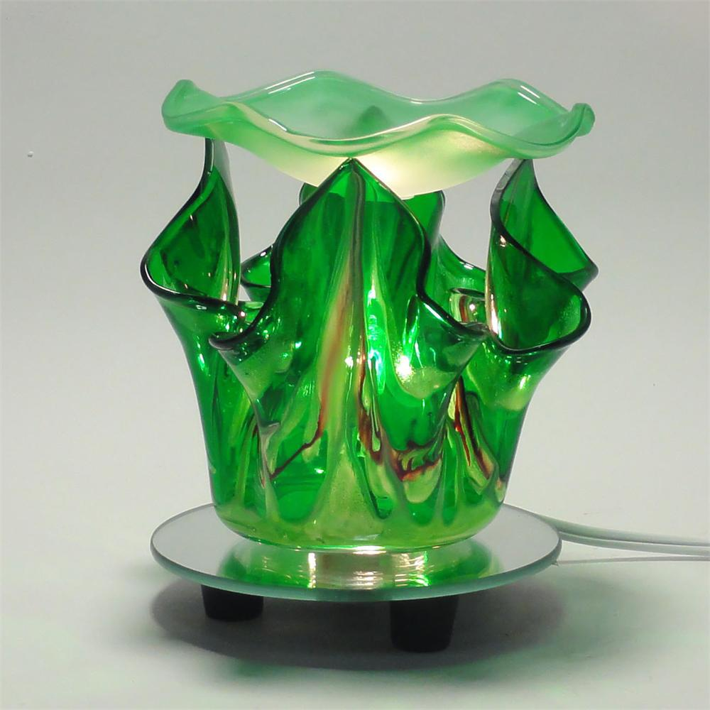 Image 1 of Green Electric Glass Oil Warmer