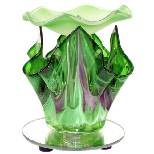Image 4 of Green Electric Glass Oil Warmer