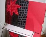 "Handmade All Occasion Greeting Card - ""rosso e nero"""