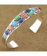 Turquoise Lapis Spiny Oyster Sterling Silver Cu... - $244.07