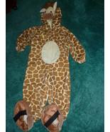 CHILD VELVET GIRAFFE HALLOWEEN COSTUME SIZE 24 ... - $15.00