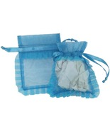 10 Organza Jewelry Pouches Gift Bags 3 X 4 Turq... - $7.99