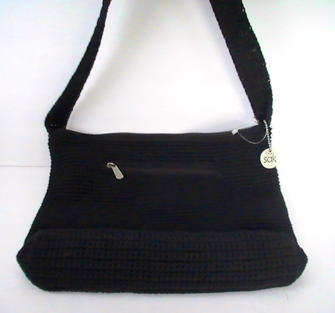 Crochet Bag Strap : ... Handbag Fabiana Crochet Black Purse Shoulder Bag - Handbags & Purses