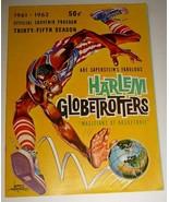 1961 HARLEM GLOBETROTTERS Souvenir Program Booklet - $9.50