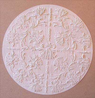 RAISED PLASTER WORTHINGTON MEDALLION STENCIL