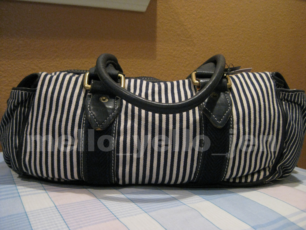 NWT Marc by Marc Jacobs Chalked Stripe Denim Satchel Purse